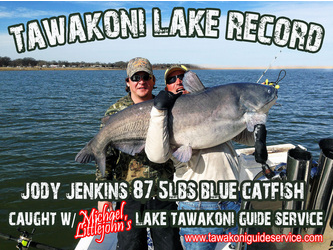 Lake Tawakoni Lake Record Blue Catfish